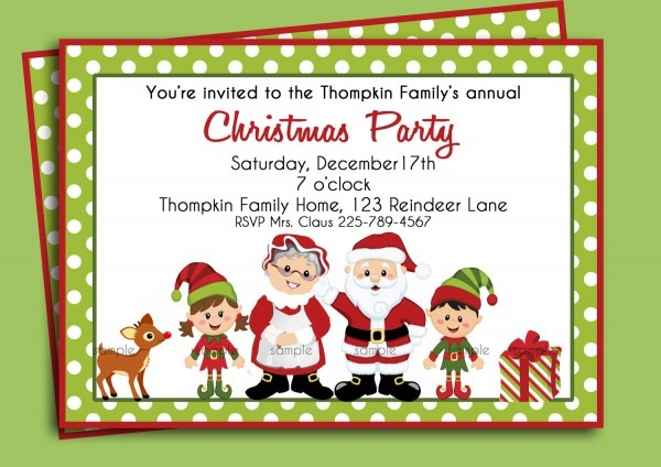 Family Gathering Invitations For Christmas – Fun For Christmas