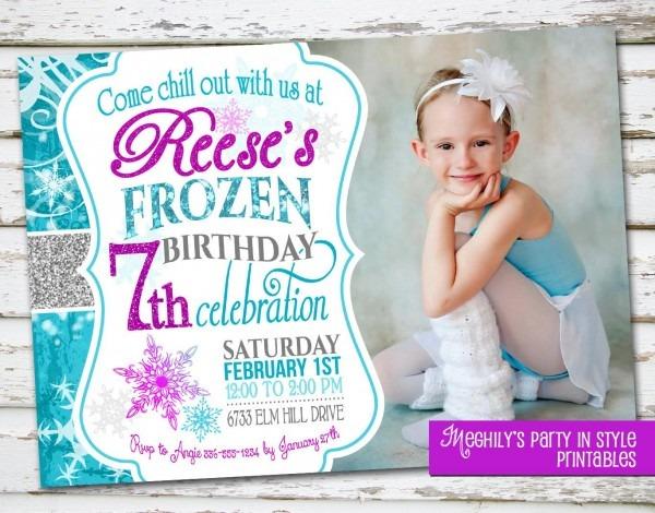 Frozen Birthday Invitation With Photo By Meghilys On Etsy, $12 00