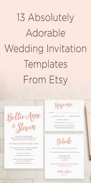 20+ Etsy Wedding Invitations