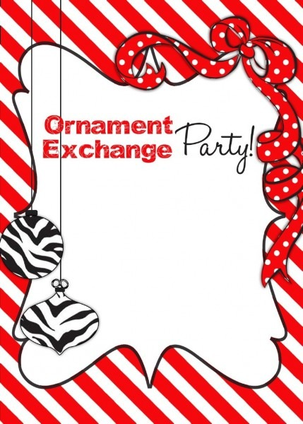 Ornament Exchange Invite