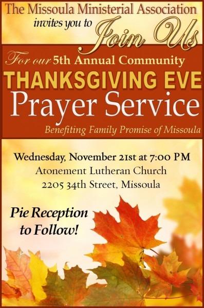 Missoula Interfaith Thanksgiving Celebration 11 21 2018 Missoula