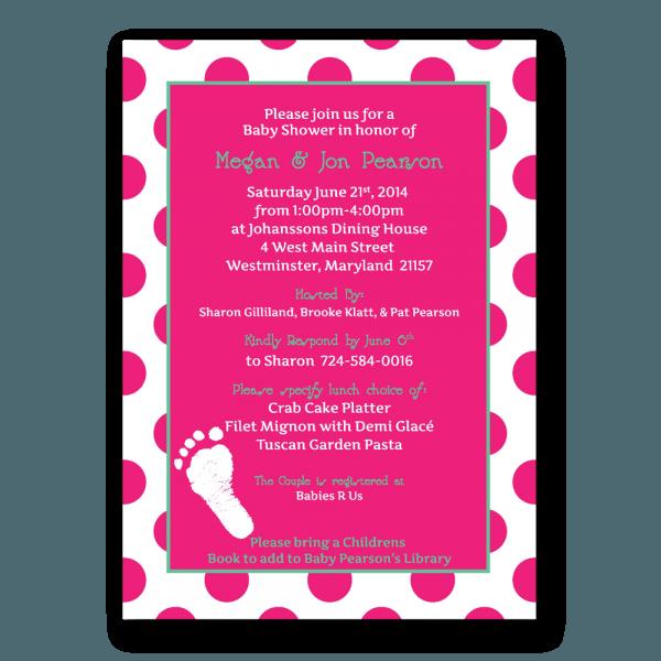 Footprint Baby Shower Invitation