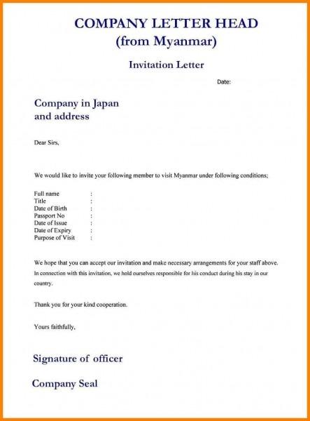 13+ Letter Formal Invitation