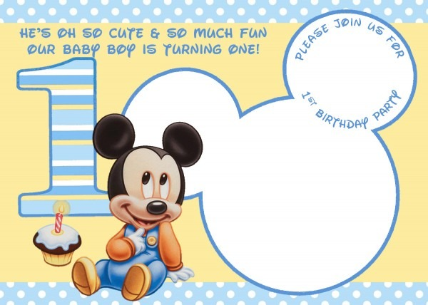 Mickey Mouse Birthday Invitations Free Printable