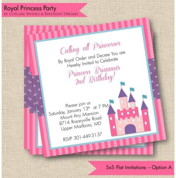 Homemade Princess Party Invitations