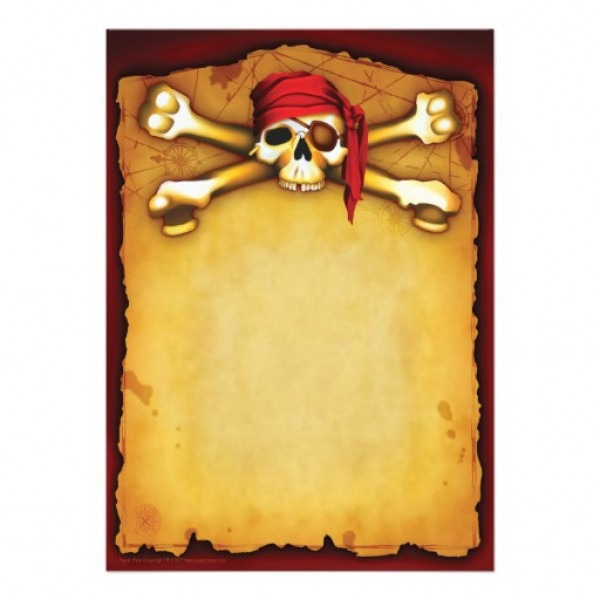 27 Images Of Printable Pirate Invitations Template