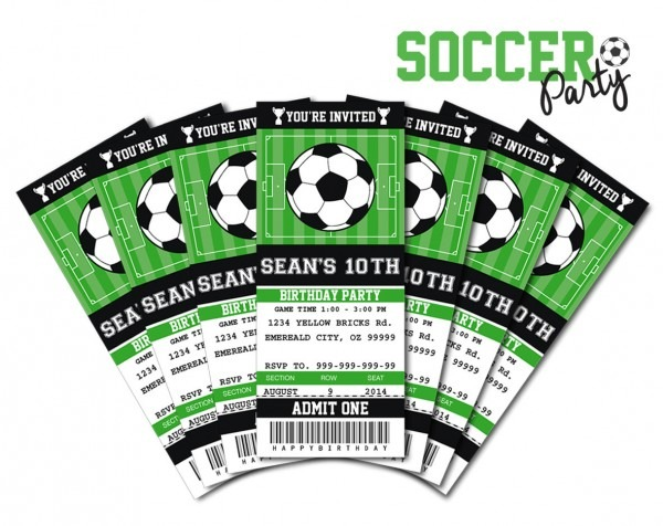 15 Best Photos Of The Soccer Party Ticket Invitations