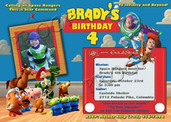 Free Printable Toy Story Cool Character Birthday Party Invitations