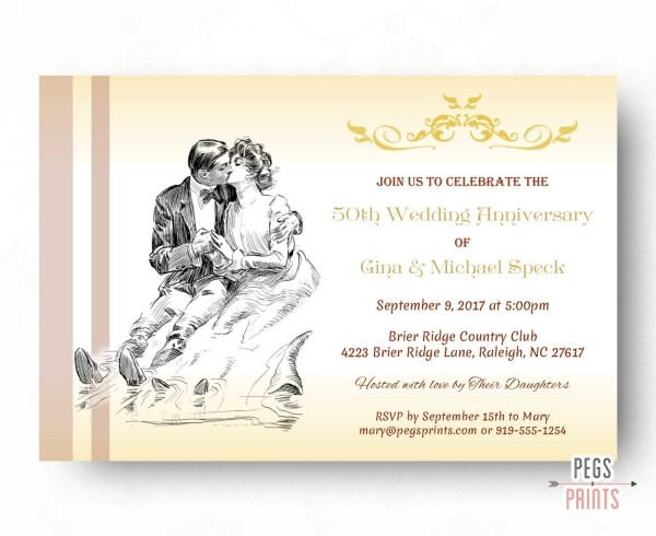 Free Printable Wedding Anniversary Cards ~ Wedding Invitation
