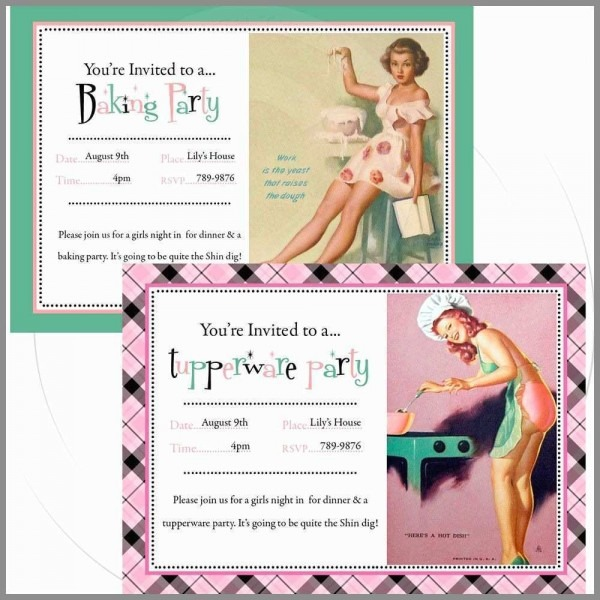 Free Tupperware Invitations Great Printable Personalize Pinup