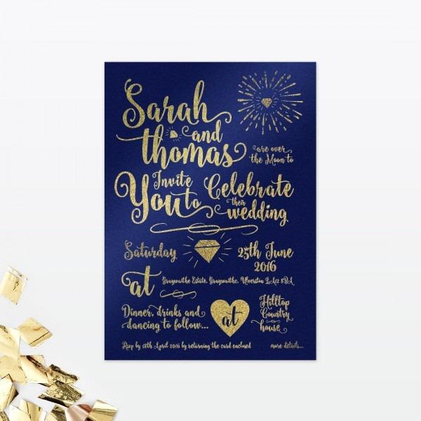 Glitz And Glamour Wedding Invitation