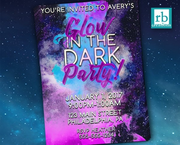 Glow In The Dark Party Invitations And Get Inspiration To Create
