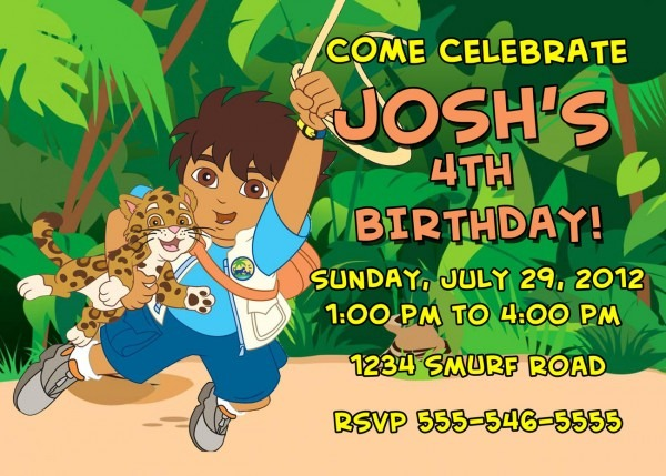 Personalized Go Diego Go Birthday Invitation And 37 Similar Items