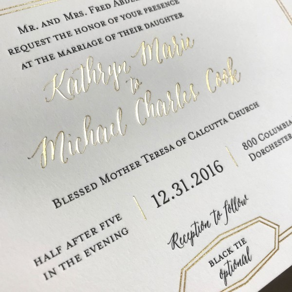 Kathryn Letterpress Wedding Invitations