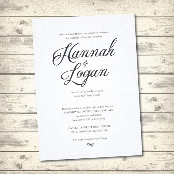 Invitations   Gorgeous Wedding Ideas Traditional Invitation