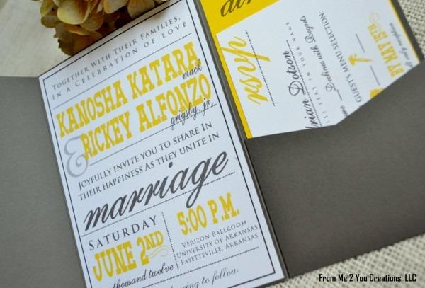 Gorgeous Yellow Wedding Invitations Formidable Yellow Wedding