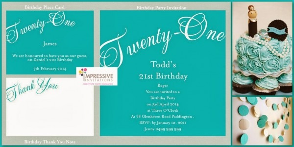 21st Birthday Invitations And Traditions   Invitations Ideas