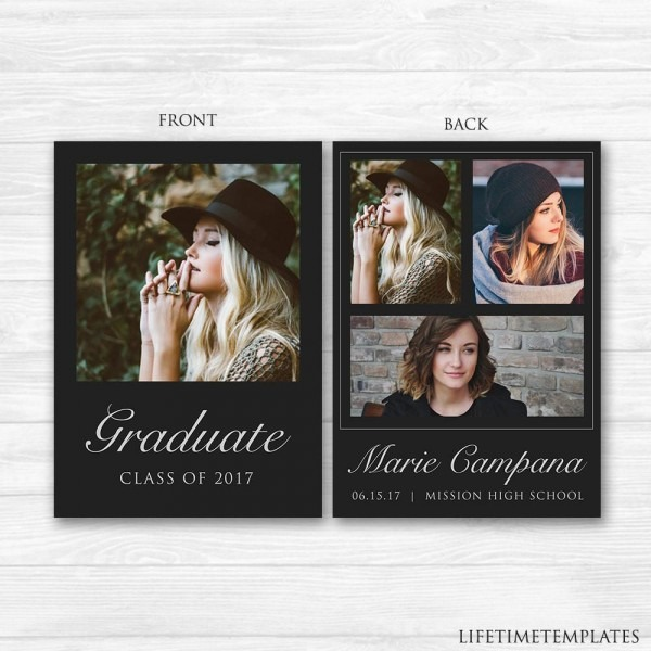 Graduation Announcement Template Or College Party With Samples