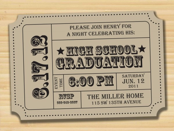 23 Images Of Graduation Tickets Template