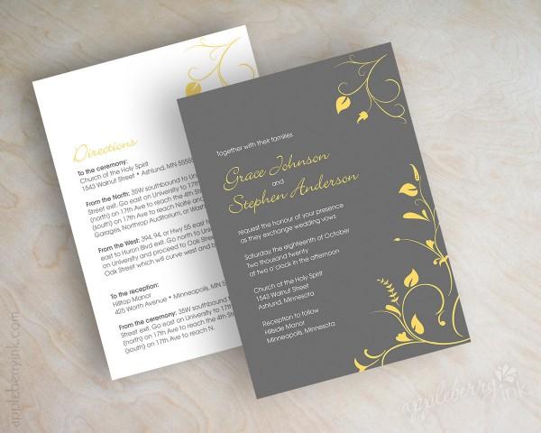Great Simple Wedding Invitation Designs Simple Wedding Invitations