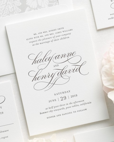 Haley Letterpress Wedding Invitations