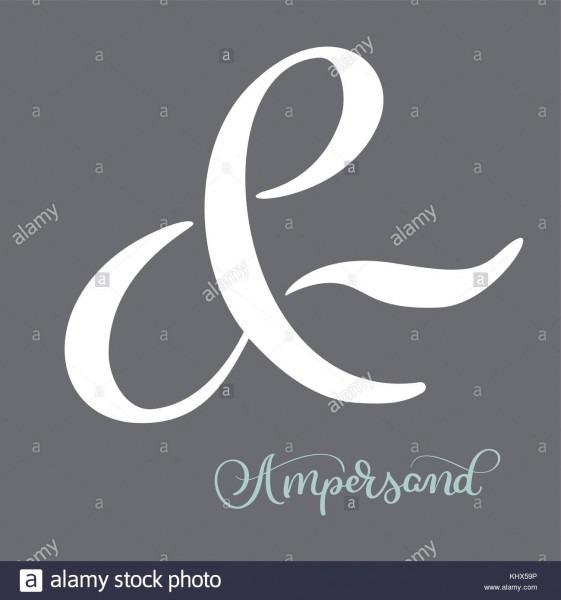 Hand Lettered Flourish Ampersands Calligraphy  Great Vector Design
