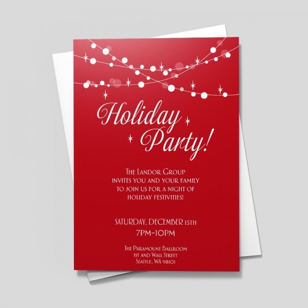 Hang The Lights Holiday Party Invitations By 123print