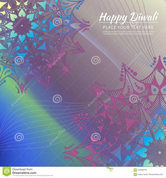 Happy Diwali Invitation Card  Vector Mandala On The Calorful