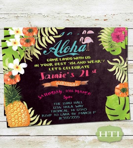 Hawaiian Invitations Wording Archives