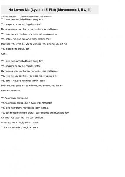 He Loves Me (lyzel In E Flat)[movements I, Ii & Iii] (li Renmen M