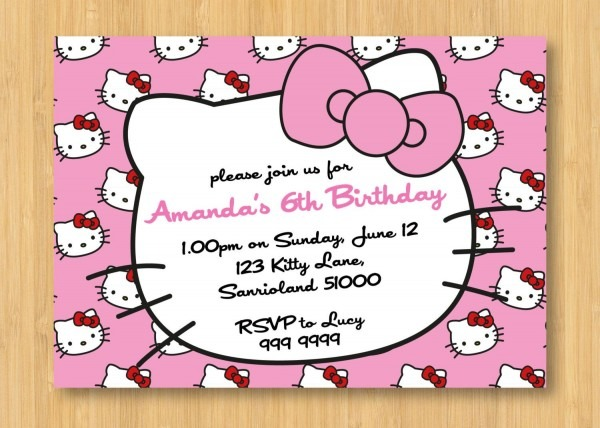 Hello Kitty Invitations From Trumptwitter To Get Ideas How To Make