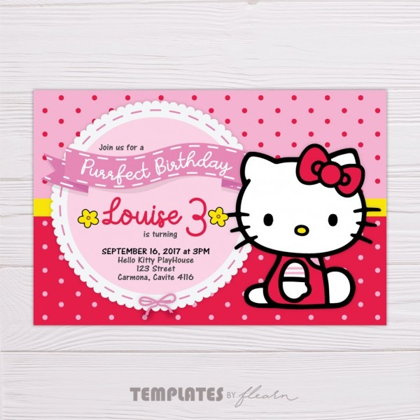 Red Hello Kitty Invitation – Flearn Ph