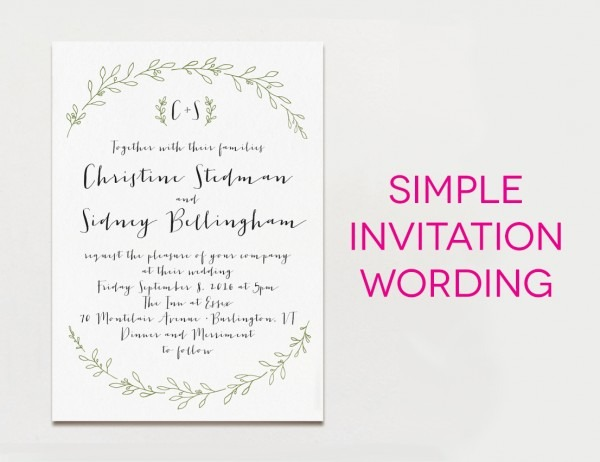 How To Write A Wedding Invitation