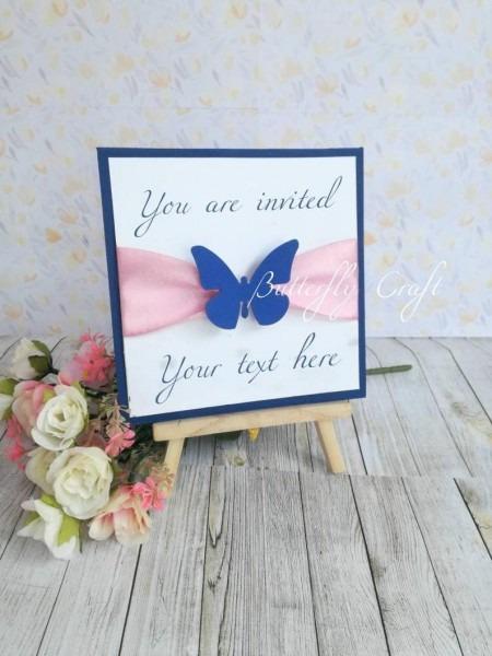 Wedding Pearl Invitation Christening Invitation Custom