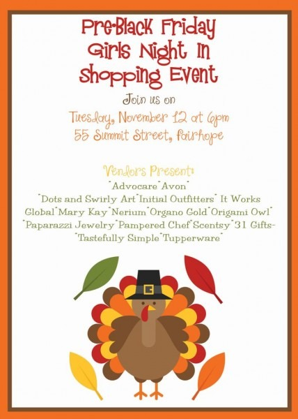 Pre Black Friday Shopping Turkey Invitation