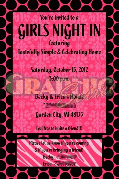 Girls Night In Birthday Bachelorette Party Shower