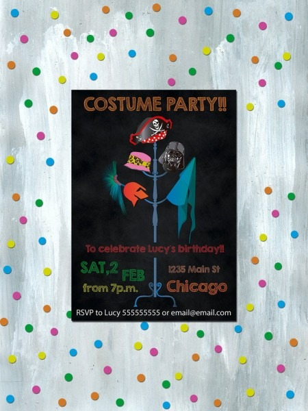 Costume Party Invitation Printable Carnival Party Invites