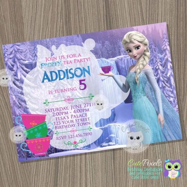 Frozen Invitation Frozen Tea Invitation Disney Frozen Tea