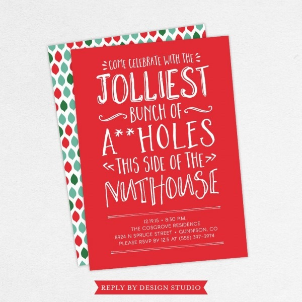Funny Christmas Party Invitations Funny Holiday Party