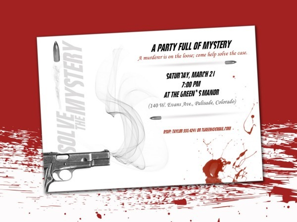 Murder Mystery Invitations Digital Download