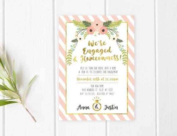 Engagement Party Invitation Housewarming Party Invitation