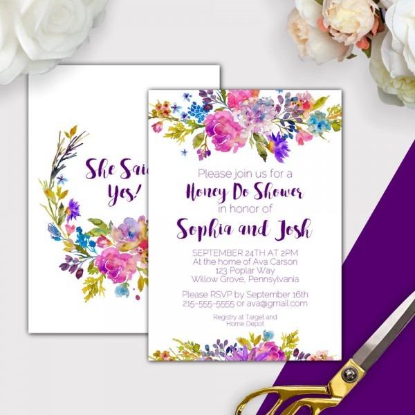 Garden Honey Do Shower Invitations Printable Pdf Download