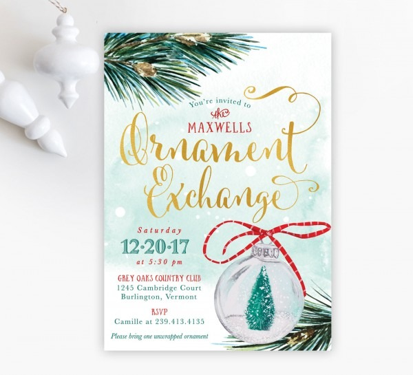 Ornament Exchange Party Invitation  Holiday Party Invite