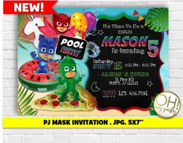 Pj Mask Invitationpj Mask Invitation Printablepj Mask