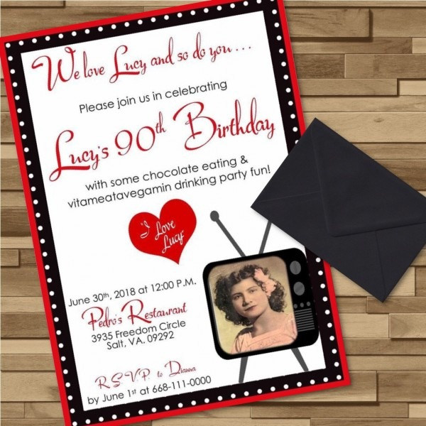 I Love Lucy Invitation