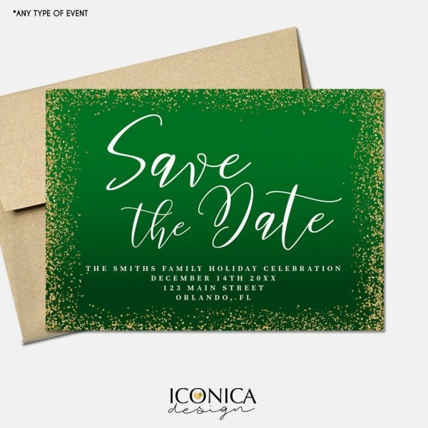 Christmas Cards Save The Date,holiday Save The Date Cards,annual