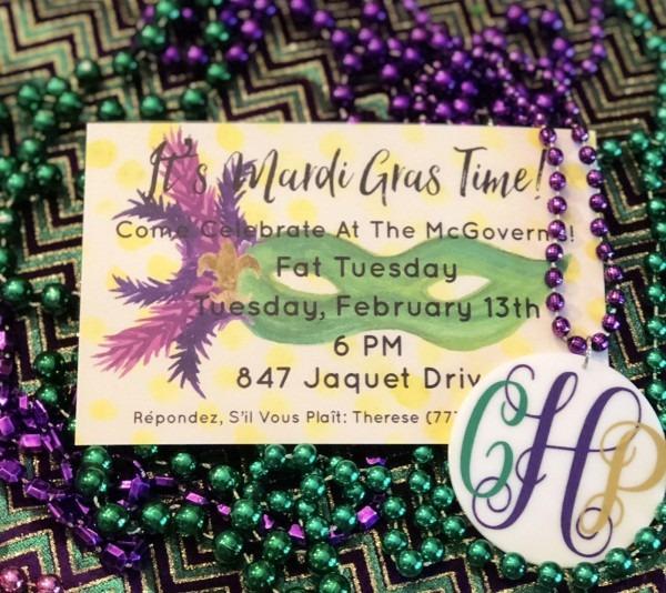 Printed New Orleans Party Invitation  Louisiana Bachelorette