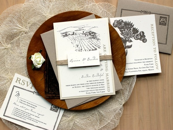 Rustic Burlap Wedding Invitations As Seen In The Meryl
