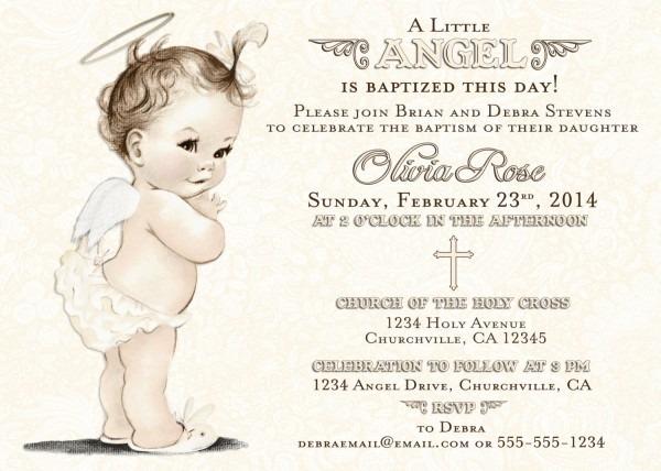Baptism Invitation For Girl Christening Invitation For Girl
