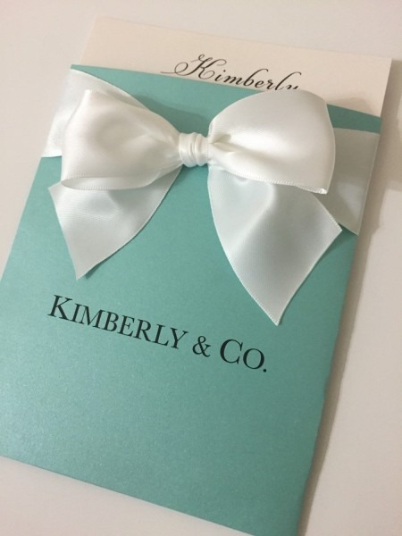 Anaderoux  Aqua Blue Quinceanera Invitations
